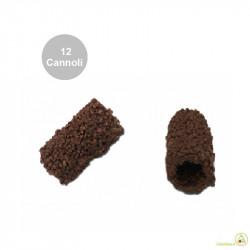 12 Cannoli Baby al Cacao di pasta frolla ricoperti di cacao fondente
