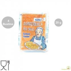 4 Bustine di Ammoniaca Lievitante o bicarbonato si ammonio in polvere da 20 g
