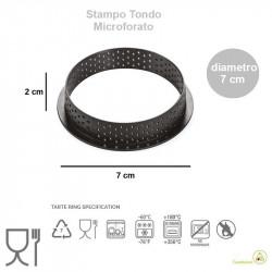 Stampo ad Anello Tondo per Crostatine e Tortine Tarte Ring Round da 7 cm altezza 2 cm da Silikomart