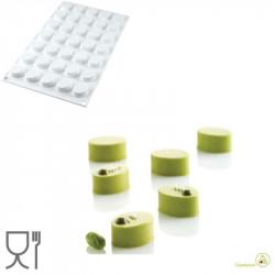 Stampo in Silicone micro Oval o Micro Ovali o Oblunghi, da 26,5 mm x 19,5 mm ed altezza 12,5 mm di Silikomart