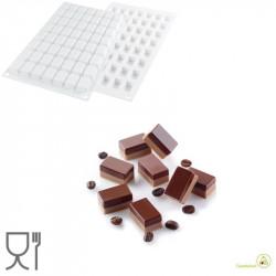 Stampo in Silicone micro Rectangle o Micro Rettangoli, da 6 cm , altezza 39 mm di Silikomart
