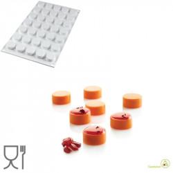 Stampo in Silicone micro Round o Micro Cilindri, da 24 mm , altezza 12 mm di Silikomart