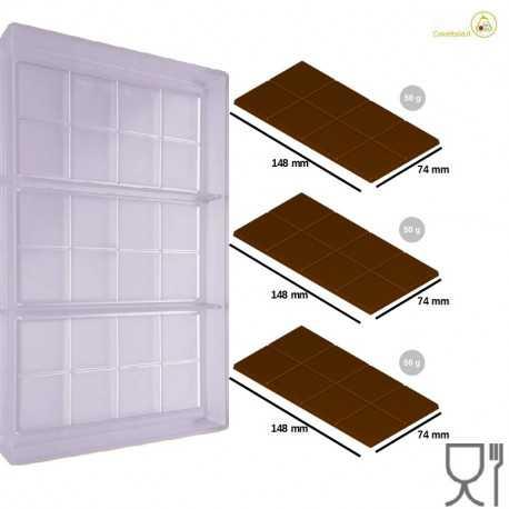 Stampo Cioccolato Tavoletta dal peso 50 g e lunga 148 mm