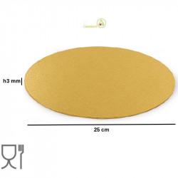 Disco sottotorta sottile oro tondo da 25 cm altezza 3 mm