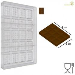 Stampo Cioccolato Tavoletta dal peso 6 g e lunga 4 cm, larga 3 cm
