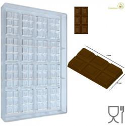 Stampo Cioccolato Tavoletta dal peso 10 g e lunga 55 cm, larga 3 cm