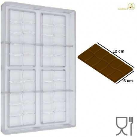 Stampo Cioccolato Tavoletta onda dal peso 50 g e lunga 120 mm