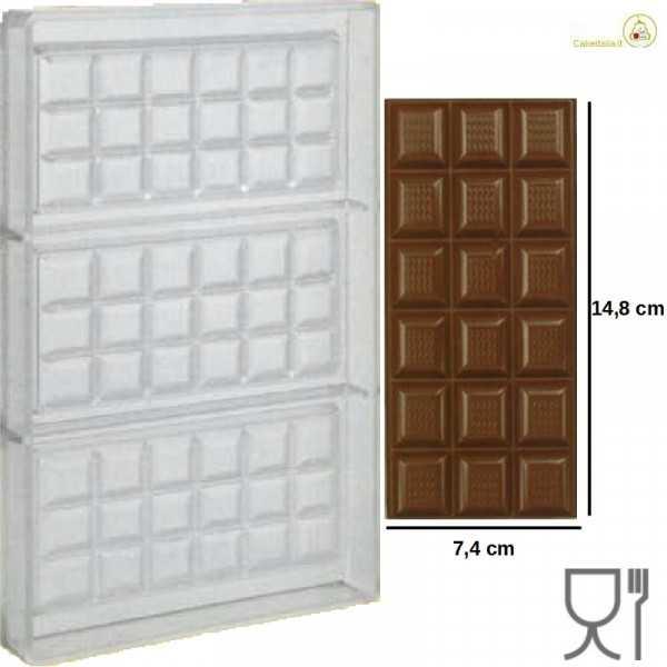 Stampo Cioccolato Tavoletta onda dal peso 100 g e lunga 150 mm