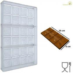 Stampo Tavoletta cioccolato Cabossa 100 g 16 cm