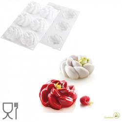 Stampo Fleur 90 stampo in silicone bianco per 6 forme per forme a fiore di 10 cm da Silikomart