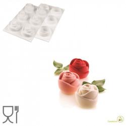 Stampo Rose 145 in silicone bianco da 70 mm da Silikomart