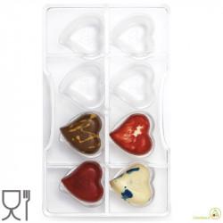 Stampo cioccolato cuore 8 cavità in policarbonato da Decora