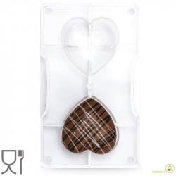 Stampo cioccolato cuore Piccolo 2 cavità da 7 cm in policarbonato da Decora