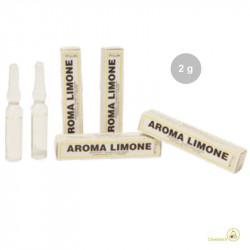 Aroma limone liquido da Madma in fiala da 2 g, per aromatizzare impasti e creme per dolci