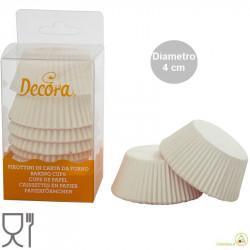 120 Pirottini Tartellette bianchi in carta forno diametro 4 cm altezza 2 cm da Decora