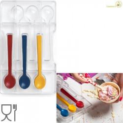 Stampo in policarbonato cucchiaini lunghi 11,5 cm ed alti 1 cm, da Decora.