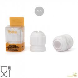 Adattatore per cornetti 3D con cappuccio salva freschezza, in plastica bianca per alimenti da Decora