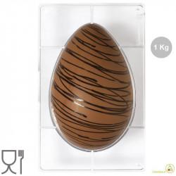 Stampo uova 1 Kg 1 impronta 330 mm x 215 mm x h 20 mm in policarbonato da Decora