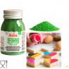 Cristalli di Zucchero Verde glitterato, in barattolo da 100 g di Decora.