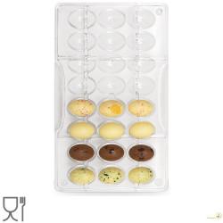 Stampo in policarbonato per 24 ovetti di cioccolato da 24 x 17 mm