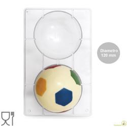 Stampo Cioccolato Pallone grande da Calcio o Sfera da 120 mm in policarbonato professionale