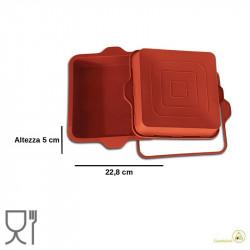 Quadrato teglia alta lato 23 cm altezza 5 cm in silicone, SFT306  di Silikomart