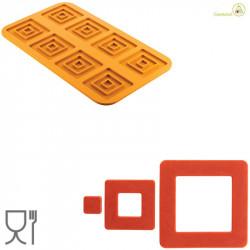 Stampo Quadrato 4.0 per 8 impronte in Silicone giallo da Silikomart Linea Naturae