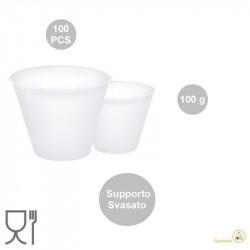 100 Supporti svasati per uova di Pasqua da 100 g, di 56 mm x 37 mm h 53 mm