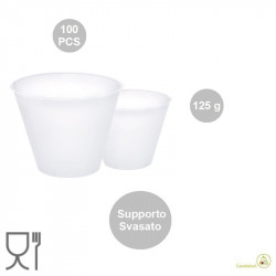 100 Supporti svasati per uova di Pasqua da 125 g, di 67 mm x 40 mm h 58 mm