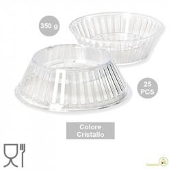 25 Supporti per uovo di Pasqua da 350 g, colore cristallino