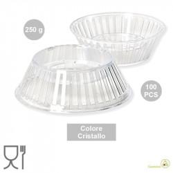 100 Supporti Crystal per uovo di Pasqua da 250 g, colore cristallino