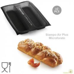 Set 2 stampi Air Plus 02 Plum cake da 27 x 7 h 3 cm in silicone Silikomart