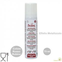 75 ml di colorante alimentare spray Rosso Rubino, effetto metallizzato da Decora