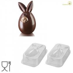 Lucky Bunny o Coniglio Fortunato Kit 3D Stampo Cioccolato Termoformato da Silikomart