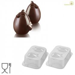 Paul Cino o Pulcino Kit 3D Stampo Cioccolato Termoformato da Silikomart