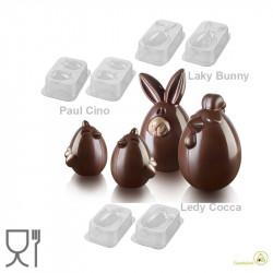 Allegro Cortile Kit 3D Stampi Cioccolato Termoformati da Silikomart