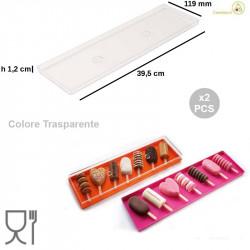 Set 2 Vassoi Espositor per Gelati e monoporzioni V Gel 03 Trasparente da Silikomart