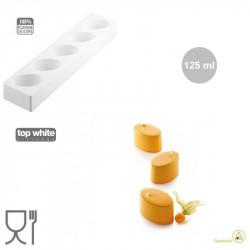 Multiflex Oval 125 Stampo Silicone per 5 Ovali di volume 125 ml da Silikomart
