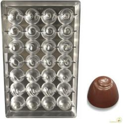 Stampo cioccolato boero 9 g diametro 28 mm altezza 21 mm in policarbonato