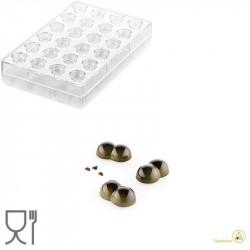 CH010 Bolla P: Stampo in Tritan per 24 Praline di Cioccolato con decoro a bolla da Silikomart
