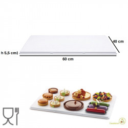 Vassoio Cake Board I Love Levels in plastica Bianca 60 x 40 cm da Silikomart