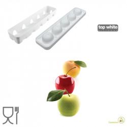 Stampo in silicone Mela, Ciliegia e Pesca da 115 ml in silicone Bianco da Silikomart