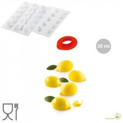 Stampo in silicone Limone da 30 ml in silicone Bianco con tagliapasta da Silikomart