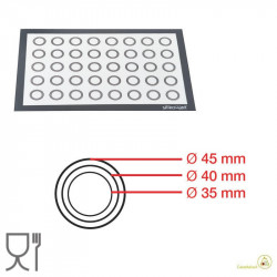 Fiberglass with Circles Tappeto Anti-Aderente in fibra di vetro 595 x 395 mm da Silikomart