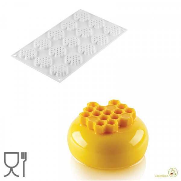 Stampo Miel 8 in silicone per 15 decori alveoli di 4,5 cm da Silikomart