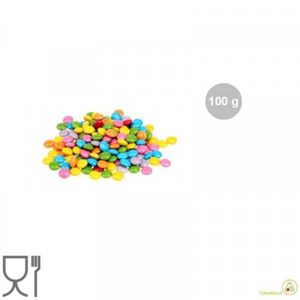 Mini Lenticchie di Cioccolato in colori assortiti e confezione da 100 g