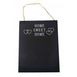Lavagnetta Home Sweet Home appendibile cm 14x19
