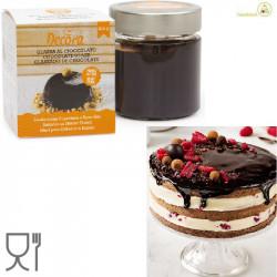 Glassa al cioccolato per coperture a specchio da 250 g, di Decora