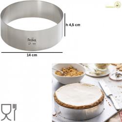 Cerchio acciaio inox o sagoma cerchio altezza 4,5 cm diametro 14 cm