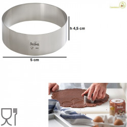 Cerchio acciaio inox o sagoma cerchio altezza 4,5 cm diametro 5 cm